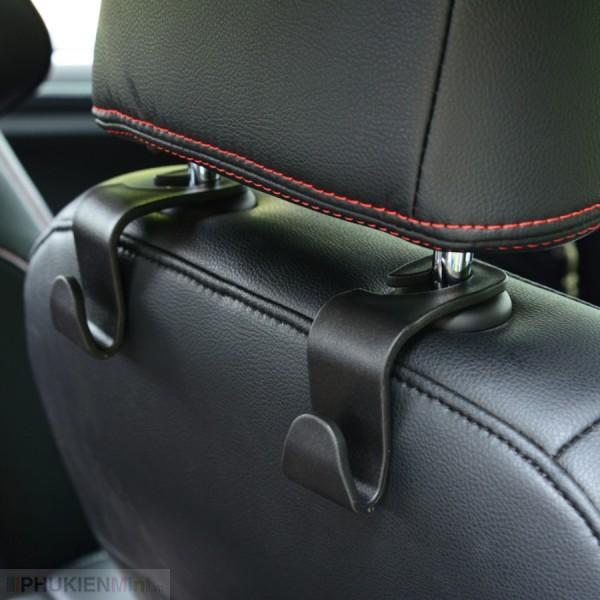 Combo 2/3/4 cái giá móc treo đa năng gắn tựa đầu treo đồ vật sau ghế ô tô, xe hơi chịu tải đến 5kg, chất liệu Nhựa, loại Túi treo sau ghế xe hơi