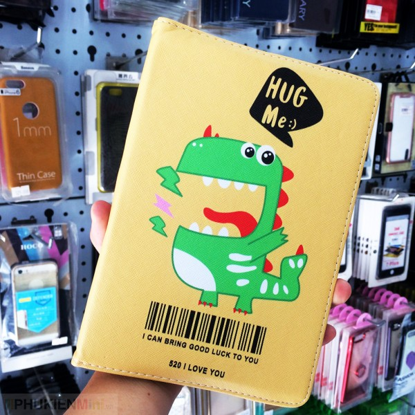 Bao da hoạt hình, hình thú dễ thương ngộ nghĩnh, độc lạ cho iPad, kiểu Hình ảnh, Hoạt hình, chất liệu Da PU, Nhựa, loại Bao da
