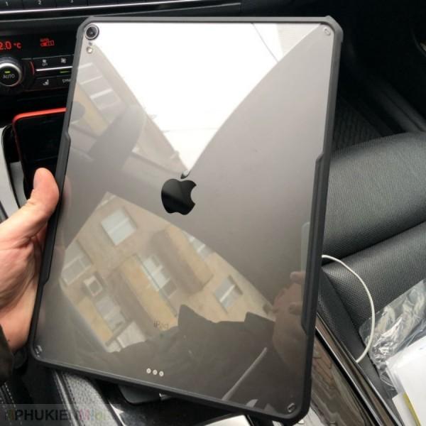 Ốp lưng XUNDD cao cấp viền máy nhựa dẻo dầy chống sốc airbag 4 góc, mặt lưng trong suốt bảo vệ iPad, kiểu Màu trơn, chất liệu Nhựa, loại Ốp lưng