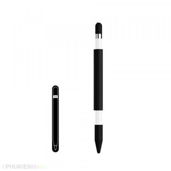 Ống silicon chống trơn trượt, có từ tính hít nam châm bảo vệ bút cảm ứng Apple Pencil 1, kiểu Màu trơn, chất liệu Silicone, loại Vỏ bảo vệ bút stylus