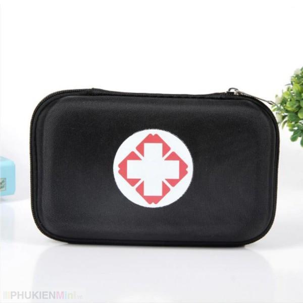 Hộp túi du lịch đựng đồ dùng y tế sơ cứu khẩn cấp nhỏ gọn, hộp khung cứng chống sốc, móp méo (không gồm dụng cụ y tế), chất liệu Nhựa, Vải, loại Túi đựng phụ kiện