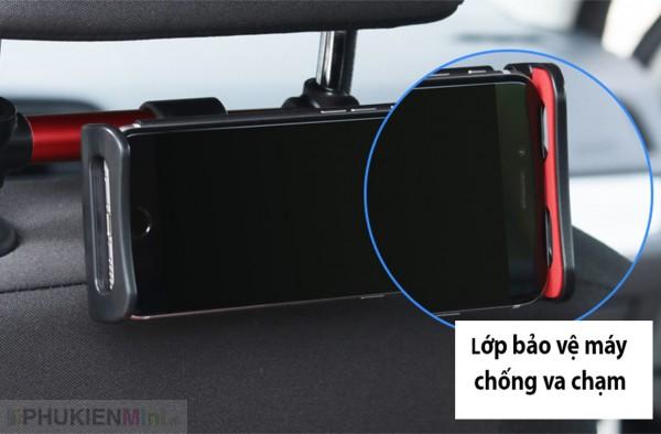 Khung kẹp xoay dọc ngang kẹp điện thoại, ipad treo thanh tựa đầu sau ghế xe hơi, ô tô và điều chỉnh máy theo góc nhìn, chất liệu Nhựa, loại Kẹp