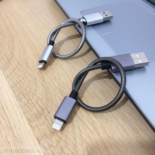 Cáp sạc lightning ngắn 20cm cho iPhone, iPad , loại Cáp Lightning