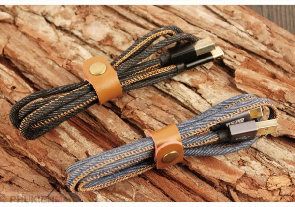 Cáp USB-C bọc vải jean dài 1m, loại Cáp USB-C, Dây Bọc vải