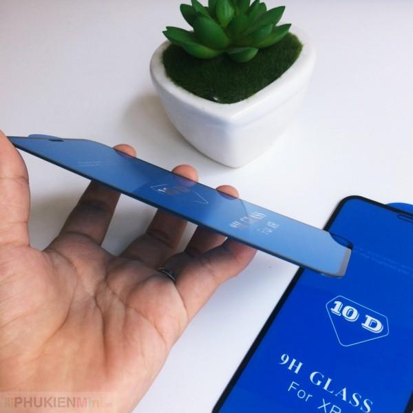 Miếng dán kính cường lực 10D full màn hình, viền màu cảm ứng mướt mượt cho iPhone, loại Kính Cường lực, độ cứng 9H, mỏng 0.2 mm