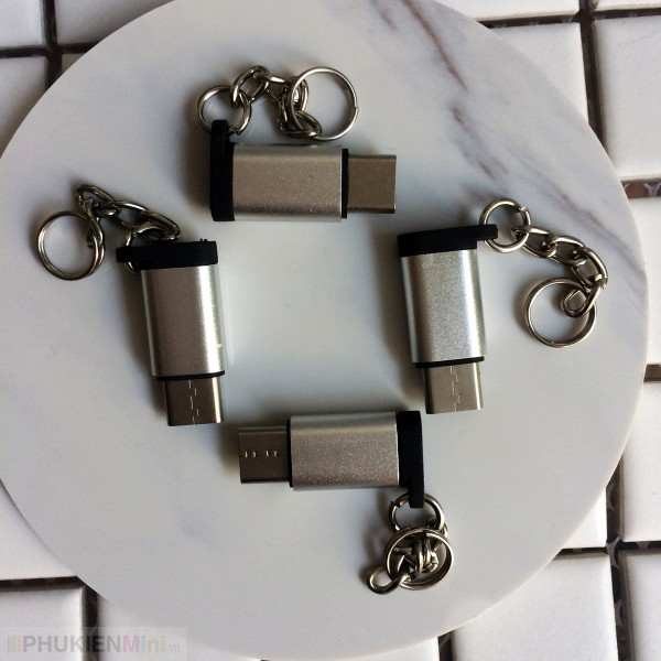Đầu chuyển cổng Micro USB sang USB-C (Type C), loại Đầu chuyển