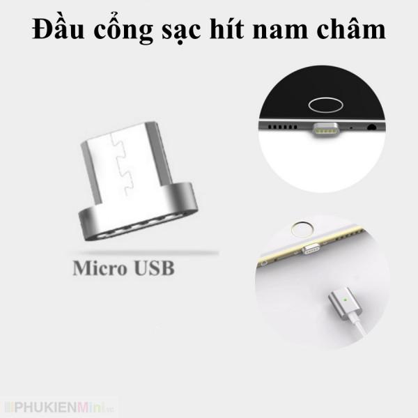 Đầu cổng sạc từ tính hít nam châm kiểu bầu dục cổng Lightning, Micro USB, USB-C (Type C) cho nhiều dòng điện thoại, loại Cáp Lightning, Cáp MicroUSB, Cáp USB-C