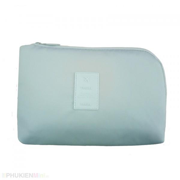 Hộp túi đa năng đựng phụ kiện trang điểm, phụ kiện công nghệ: cáp sạc, tai nghe, sạc dự phòng nhiều màu sắc hoa văn cho nữ, chất liệu Nhựa, Vải, loại Túi đựng phụ kiện