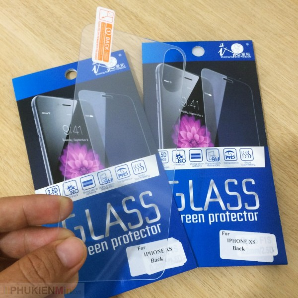 Dán cường lực mặt lưng (back) 9H cho iPhone, chất liệu Kính, loại Kính Cường lực, độ cứng 9H, mỏng 0.2 mm