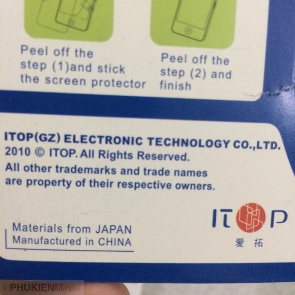 Miếng dán dẻo iTop dán mặt trước chống trầy cho iPhone, loại Dán dẻo mềm, độ cứng Không, mỏng 0.1 mm