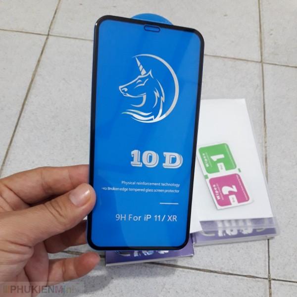 Miếng dán kính cường lực 10D full màn hình, viền màu cảm ứng mướt mượt cho iPhone, chất liệu Kính, loại Kính Cường lực, độ cứng 9H, mỏng 0.2 mm