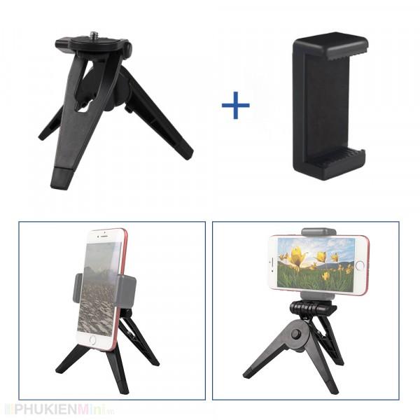 Tripod giá đỡ 3 chân mini để bàn cho điện thoại, gopro , chất liệu Nhựa, loại Tripod