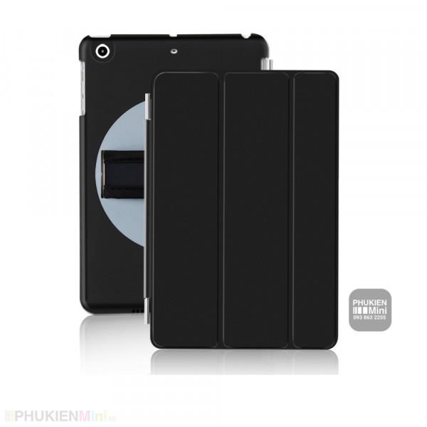Bao da xỏ tay mâm xoay 360 độ, 2 tư thế gấp máy cho iPad, kiểu Màu trơn, chất liệu Nhựa, loại Bao da