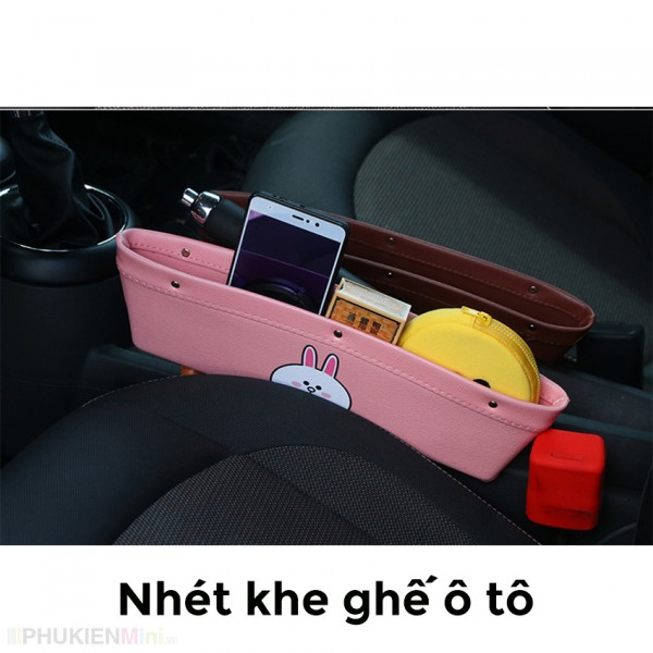 Túi ví bằng da nhét khe ghế trước xe hơi, ô tô đựng vật dụng đa năng, chất liệu Da PU, loại Túi đựng đồ khe ghế xe hơi