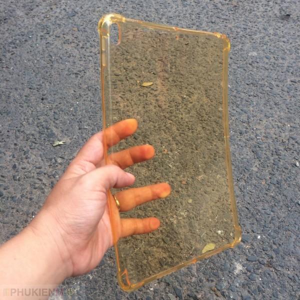 Ốp lưng dẻo màu trong suốt chống va đập 4 góc cho iPad, kiểu Màu trơn, chất liệu TPU dẻo, loại Ốp lưng