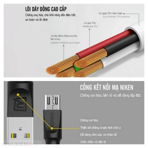 Dây cáp sạc lò xo cổng Micro USB, loại Cáp MicroUSB