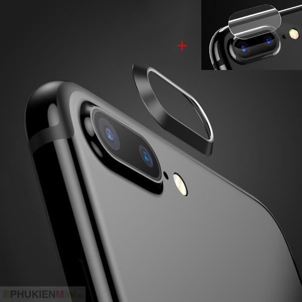 Combo bộ kính cường lực dán camera và viền hợp kim bảo vệ camera cho iPhone, loại Trang trí điện thoại