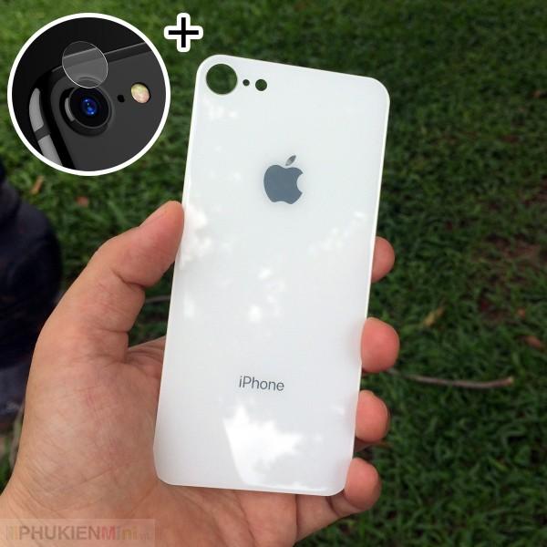 Combo kính cường lực màu dán mặt lưng và kính camera cho iPhone, loại Kính Cường lực, độ cứng 9H, mỏng 0.2 mm