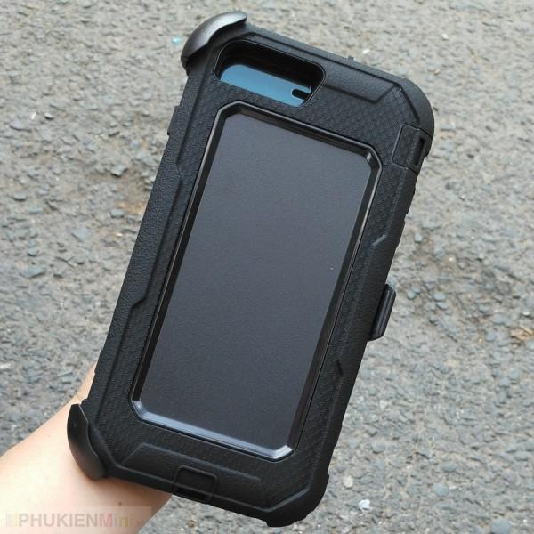 Ốp lưng chống sốc chuyên dụng 3 lớp bảo vệ, có lớp bọc đa năng làm chân chống xoay 360 độ, đeo thắt lưng cho iPhone, chất liệu Nhựa PC cứng, Silicone, loại Ốp lưng