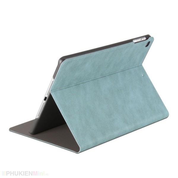Bao da smart cover kiểu dáng vintage in chìm 3D, thiết kế chống trượt cho iPad, kiểu Chữ, Hình ảnh, chất liệu Da PU, loại Bao da