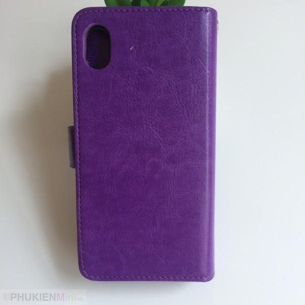 Bao da ví điện thoại kèm 2 ngăn đựng thẻ tiền, ốp lưng rời, nút cài nam châm cho iPhone, kiểu Màu trơn, chất liệu Da PU, TPU dẻo, loại Bao da, Bóp ví cầm tay