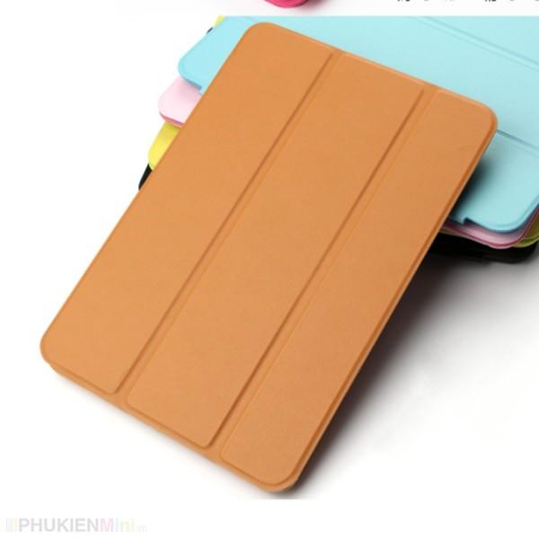 Bao da smart cover lưng dẻo nắp gập 2 tư thế, hỗ trợ tắt mở tự động cho iPad, kiểu Màu trơn, chất liệu Nhựa, loại Ốp lưng