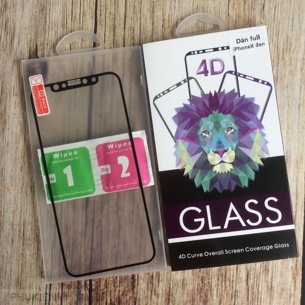 Dán cường lực 4D full màn hình cho iPhone, loại Kính Cường lực, độ cứng 9H, mỏng 0.2 mm
