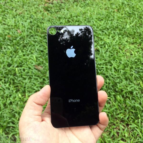 Kính gương cường lực màu dán mặt lưng (back) cho iPhone, loại Kính Cường lực, độ cứng 9H, mỏng 0.2 mm