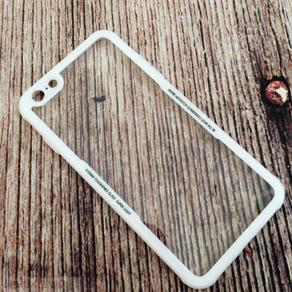 Ốp lưng Cafele nắp kính cường lực trong suốt không ố, viền màu dẻo chống sốc cho iPhone, kiểu Màu trơn, chất liệu Kính, TPU dẻo, loại Ốp lưng