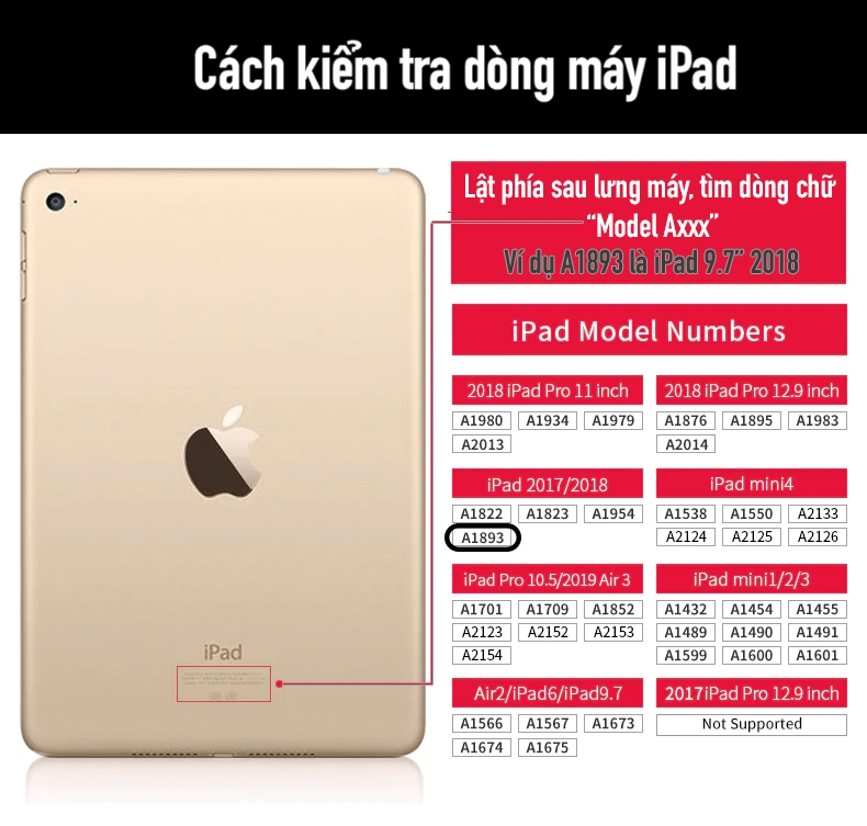 cách kiểm tra dòng máy iPad tên gọi là gì