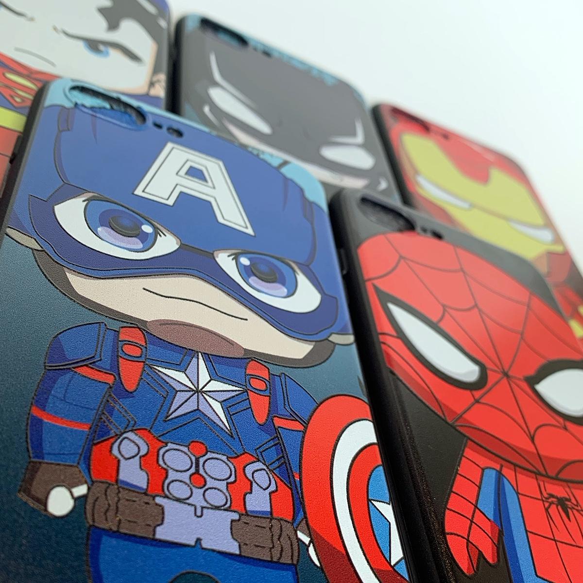 ốp lưng siêu anh hùng siêu nhân người nhện người dơi chibi cho iphone