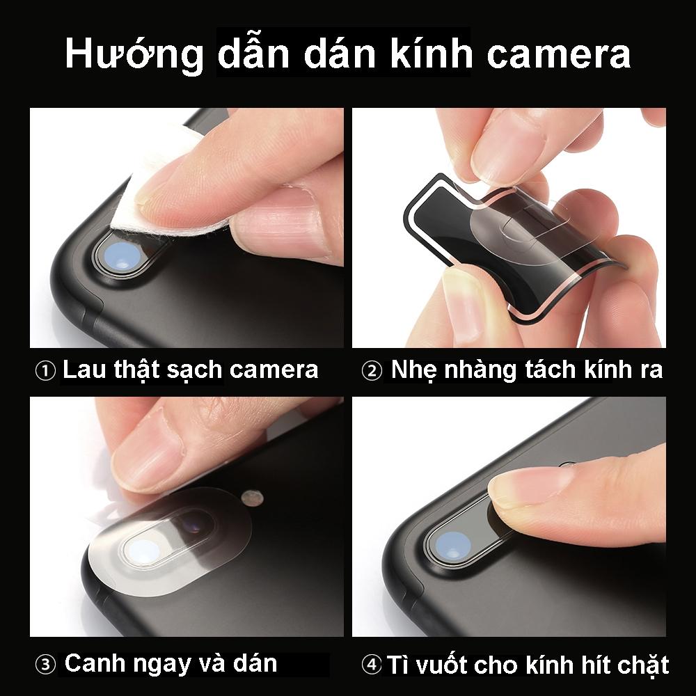 Kính cường lực bảo vệ camera chống trầy xước bể nứt cho iphone